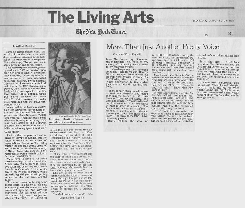 NY Times Living Arts